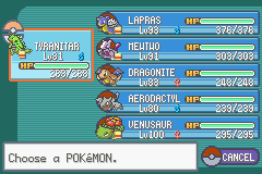Pokemon Fire Red - Menus Pokemon Team - Took me so long - User Screenshot